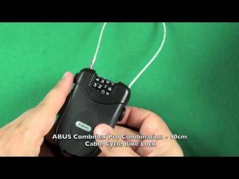 ABUS Bike  Combiflex Pro Combination Cable Cycle Bike Lock - 90cm lucchetto cavo in acciaio