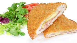Pechugas de Pollo Rellenas de jamón y queso  Cordon Bleu  Milanesas