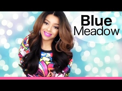 Fall Style Collab | Model Model Deep Invisible L-Part Lace Front Wig BLUE MEADOW Ft Fab4Lezz | OM27P