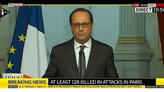 Hollande Describes Paris Attacks As 'Act Of War'