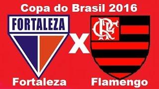FICHA TÉCNICA FORTALEZA-CE 2 X 1 FLAMENGO-RJLocal: Arena Castelão, em Fortaleza (CE) Data: 4 de maio de 2016 (Quarta-feira) Horário: 21h45(de Brasília) Árbitro: Marielson Alves Silva (BA) Assistentes: Elicarlos Franco de Oliveira (BA) e Dijalma Silva Ferreira (BA) Cartões amarelos: Juan, Guerrero e Jorge (Flamengo) Gols: FORTALEZA: Anselmo, aos 20min do primeiro tempo; Felipe, aos 26min do segundo tempo. FLAMENGO: Guerrero, aos 20min do segundo tempoFORTALEZA: Ricardo Berna, Felipe (Elivelton), Lima, Edimar e Wilian Simões; Dudu Cearense, Juliano, Pio (Corrêa), Jean Mota (Juninho) e Everton; Anselmo Técnico: Marquinhos SantosFLAMENGO: Paulo Victor, Rodinei, Wallace, Juan e Jorge; Gustavo Cuellar, Willian Arão, Federico Mancuello e Fernandinho (Gabriel); Marcelo Cirino (Ederson) e Paolo Guerrero Técnico: Muricy Ramalho