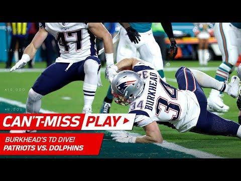 Video: Burkhead's Spinning TD Set Up by Lewis' One-Handed Grab! | Can't-Miss Play | NFL Wk 14 Highlights