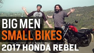 3. Big Men, Small Bikes - The Honda Rebel From Then to Now at RevZilla.com