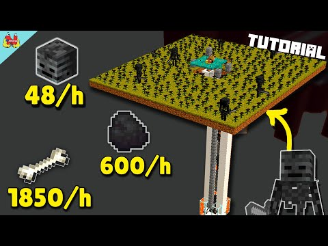 SIMPLE Wither Skeleton Farm Minecraft 1.16 (AFK) - Minecraft Tutorial