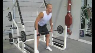 Videoanleitung zu Rudern mit einer Langhantel. Diese Übung trainiert insbesondere die Rückenmuskulatur. Weitere Übungen für...
