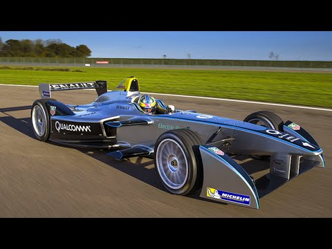 formula - Former F1 driver Jarno Trulli test drives the new Formula E car in France. The Italian drove the fully-electric single-seater featuring the full 200kw (270bh...