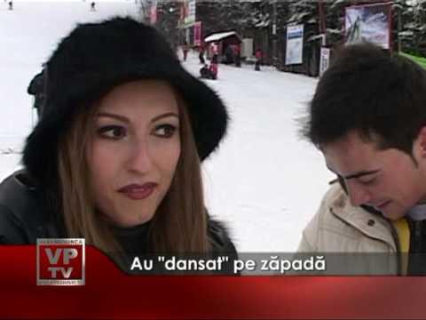 """Au """"dansat"""" pe zăpadă"""