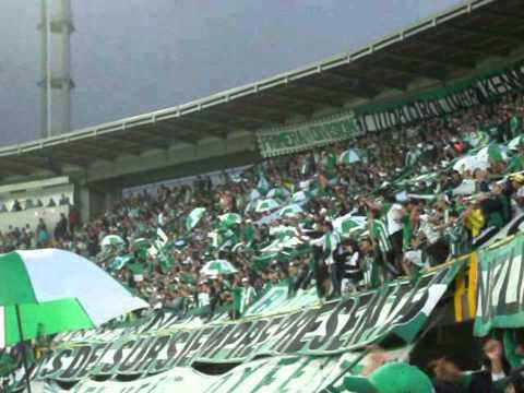 """Cánticos LOS DEL SUR BOGOTA (Santa Fe 2 - Nacional 2 / 09-02-13 Estadio """"El Campin&quo - Los del Sur - Atlético Nacional"""