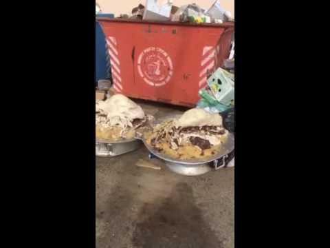 بالفيديو.. مواطن يوثق إلقاء «مفطحات» كاملة في صناديق القمامة