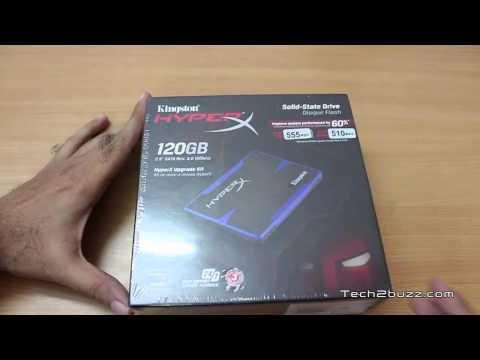 sata 3 - Unboxing of Kingston HyperX Upgrade Kit which has a sata 3 120 GB SSD drive which is one of the fastest SSD drive from Kingston based on the SandForce contro...