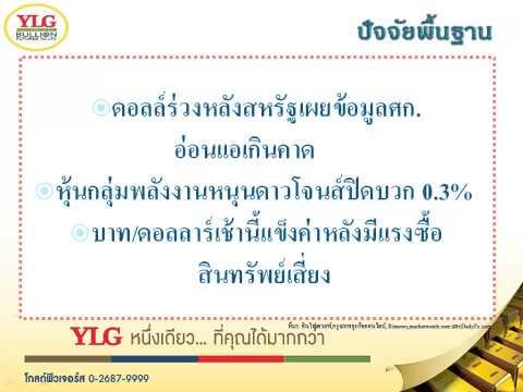 YLG บทวิเคราะห์ราคาทองคำประจำวัน 16-02-15