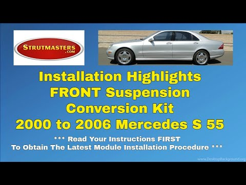 2000-2006 Mercedes S 55 Front Air Suspension Conversion Installation