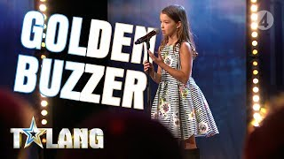 Video 10 year old Eva mesmerizes everyone with a performance that earns her a Golden Buzzer MP3, 3GP, MP4, WEBM, AVI, FLV Agustus 2019