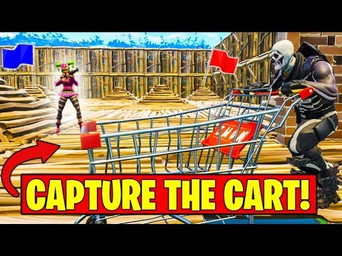"""NEW """"CAPTURE THE SHOPPING CART"""" Gamemode in Fortnite Battle Royale"""
