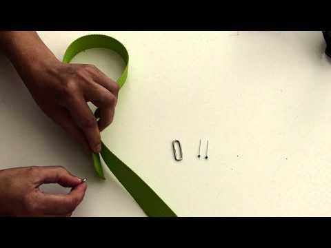 Wie aus einem Gurtband ein längenverstellbarer Taschenhenkel wird