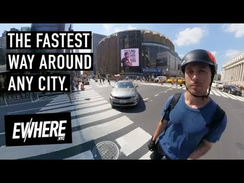 Electric Unicycle 35 Mph Blazing FAST COMMUTE / New York City / Gotway Msuper X / Insta360 One