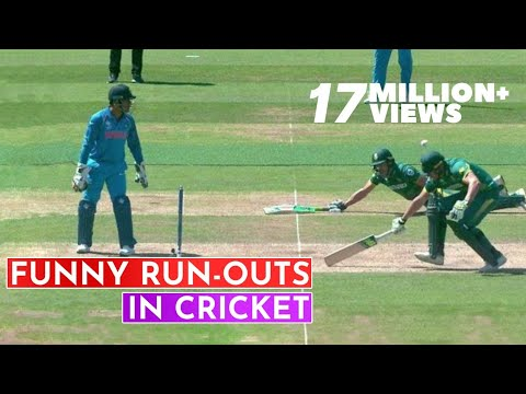 Top 10 Funniest Run-Outs in Cricket History  Cricket 18