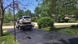 Van leaving