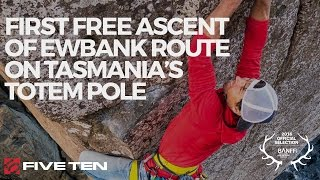 Five Ten 2016 | Sonnie Trotter | First free ascent of Ewbank Route on Tasmania's Totem Pole by Five Ten