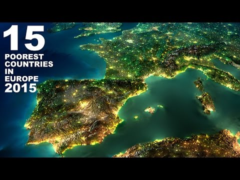 15 Poorest countries in Europe 2015