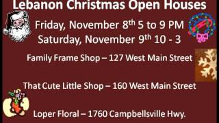 Lebanon Holiday Open Houses 11 2013