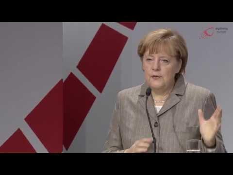Rede von Bundeskanzlerin Merkel auf