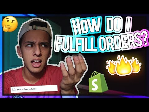 HOW TO FULFILL DROPSHIPPING ORDERS (Shopify Tips)