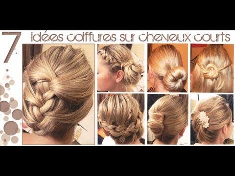 ✿ 7 idées Coiffures sur Cheveux COURTS (longueur épaules) ✿   L.A Hairstyle Inspiration