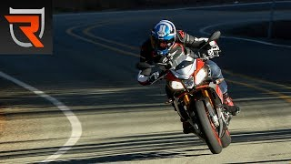 8. 2016 Aprilia Tuono V4 1100 Factory ABS First Test Review Video | Riders Domain