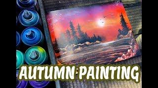 Video AUTUMN PAINTING SPRAY PAINT ART by Spray Art Eden スプレーペイントアートエデン MP3, 3GP, MP4, WEBM, AVI, FLV Desember 2018
