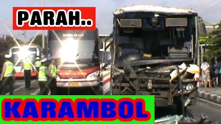 Video PARAH !! Konvoi 12  Bus Berakhir Tabrakan Beruntun MP3, 3GP, MP4, WEBM, AVI, FLV Juni 2018