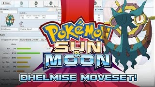 Dhelmise Moveset Guide! How to use Dhelmise! Pokemon Sun and Moon! w/ PokeaimMD! by PokeaimMD