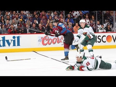 Video: MacKinnon breaks defender's ankles to score