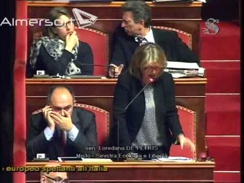 Intervento della Senatrice Loredana De Petris alla 214a Seduta Pubblica del 20 marzo 2014
