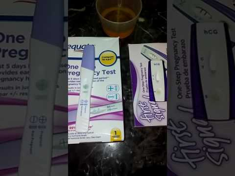 Live pregnancy test X2 review/demo 9/8/2016