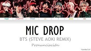Video BTS - Mic Drop (Steve Aoki Remix) | Letra Fácil (Pronunciación en Español) MP3, 3GP, MP4, WEBM, AVI, FLV Maret 2019