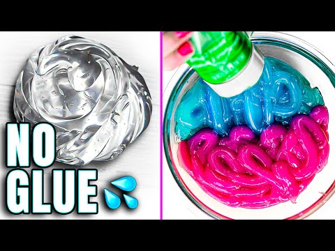 Testing VIRAL NO GLUE SLIMES! 5 DIY NO GLUE, WATER SLIME & 1 ingredient slimes 💦