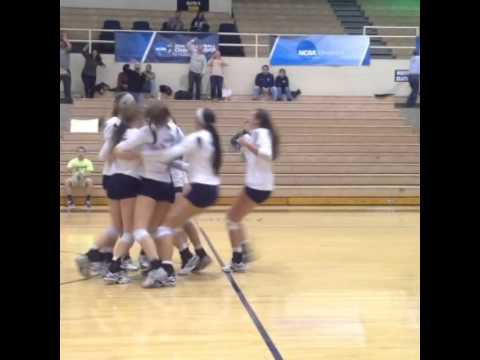 2014 GRU Volleyball's Winning Point In First Round of NCAA SE Regional