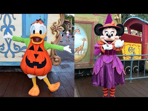 Meeting Minnie Mouse & Donald Duck in Costume at Mickey's-Not-So-Scary Halloween Party 2016