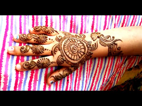 Quick Henna Design on Hands time lapse video