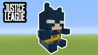 "Minecraft Tutorial: How To Make A Batman Plush Statue ""Justice League In Minecraft"""