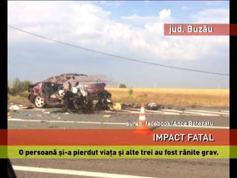 Impact fatal, în judeţul Buzău