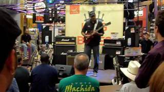 Eric Blackmon playing some nice blues guitar riffs at the Guitar Center King of the Blues contest.