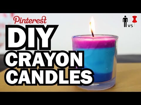 DIY Crayon Candles – Man Vs Pin – Pinterest Test #54