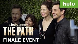 Aaron Paul and Hugh Dancy at The Path Finale