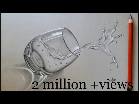 Water Glass Sketch In 3D