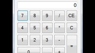 Visual Studio WinForm Windows Calculator Tutorial Example (C#)