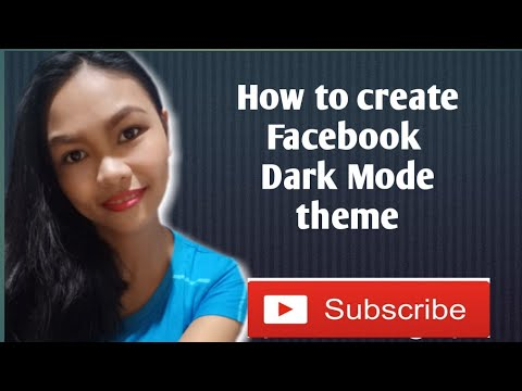 How to create Facebook Dark Mode