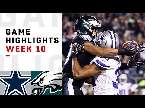 Cowboys vs. Eagles Week 10 Highlights | NFL 2018