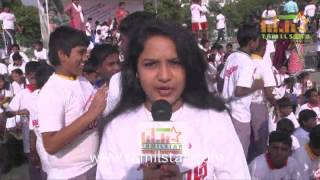Sameera at Vajram Team Organized Marathon for School Students